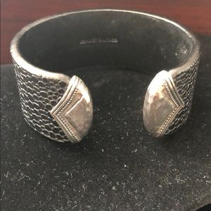 Silpada Leather Cuff Bracelet